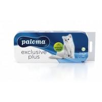 Toaletni papir Paloma Exclusive Plus   10/1 - beli, 3 slojni