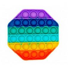 Mavrična Pop it Igrača - osemkotnik