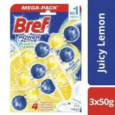 Bref Wc obešanka Power Aktiv Lemon 3 x 50 g